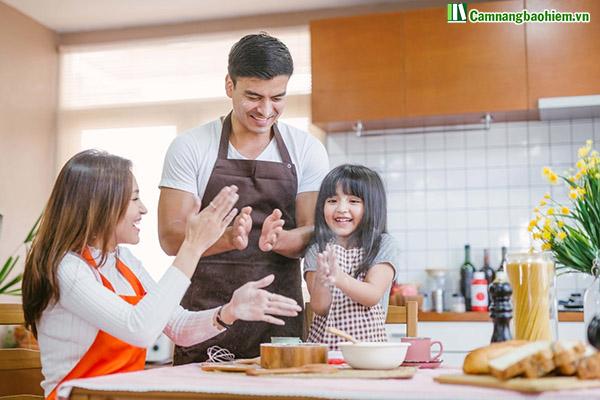 Gia đình hạnh phúc nhờ có Manulife